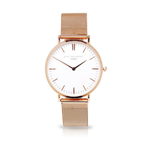 Elie Beaumont Oxford Small Mesh Rose Gold