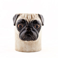 Quail Pug Pencil Pot in Fawn