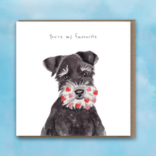Load image into Gallery viewer, Schnauzer Heart Beard Card by Lil Wabbit