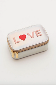 Iridescent Mini Jewellery Box with Love Applique