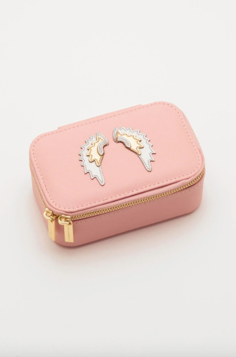 Blush Mini Jewellery Box with Wings Applique