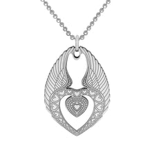 Load image into Gallery viewer, Carter Gore Silver Pendant Winged Heart