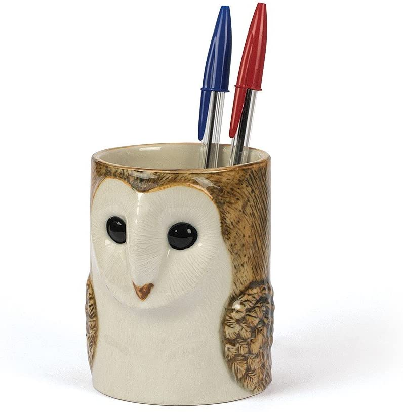 Quail Barn Owl Pencil Pot