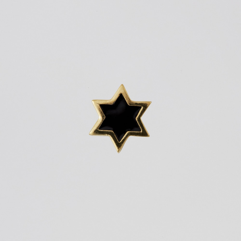 Design Letters Gold &Black Enamel Star Charm