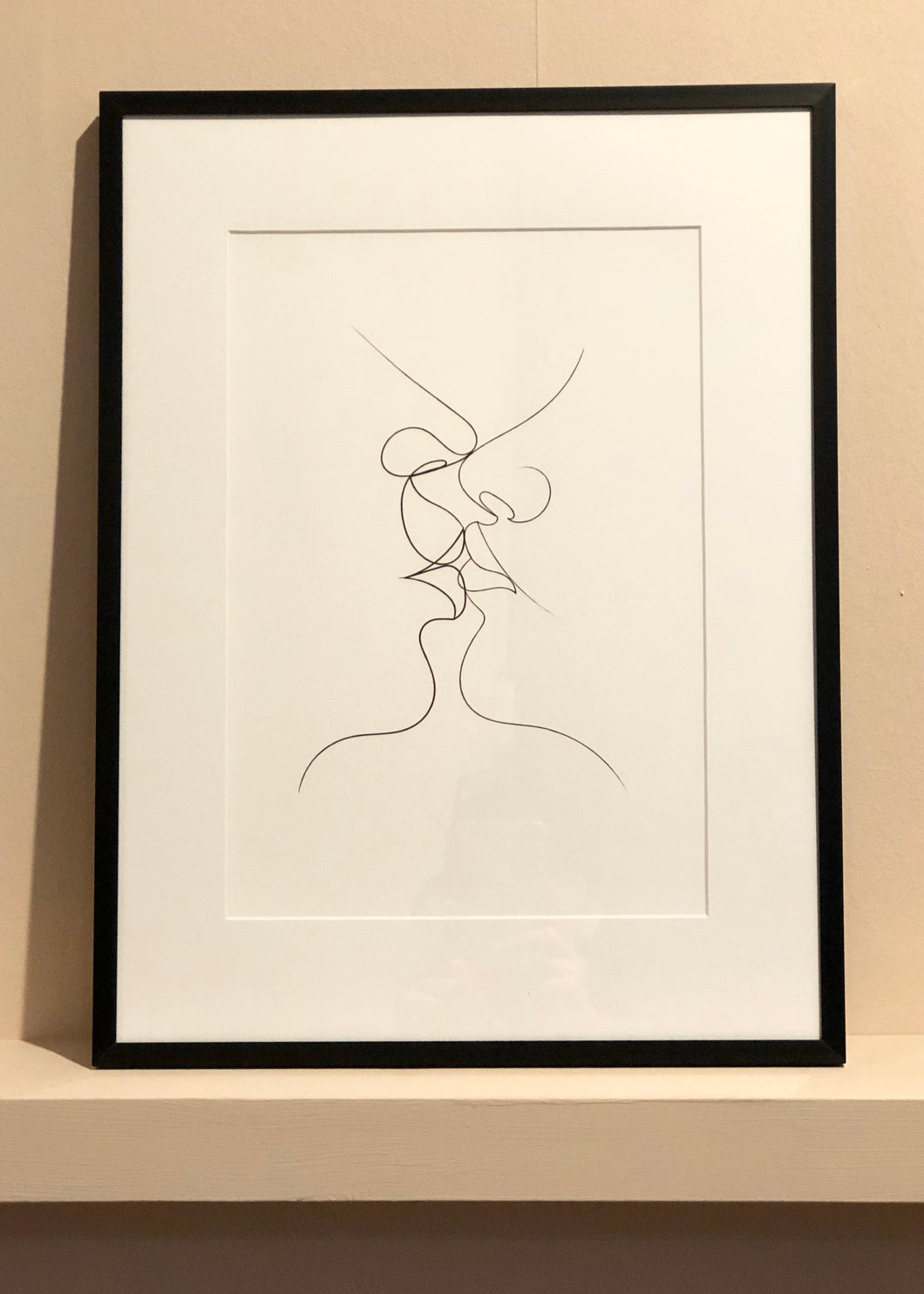 Tender Kiss -Framed Print (Large)