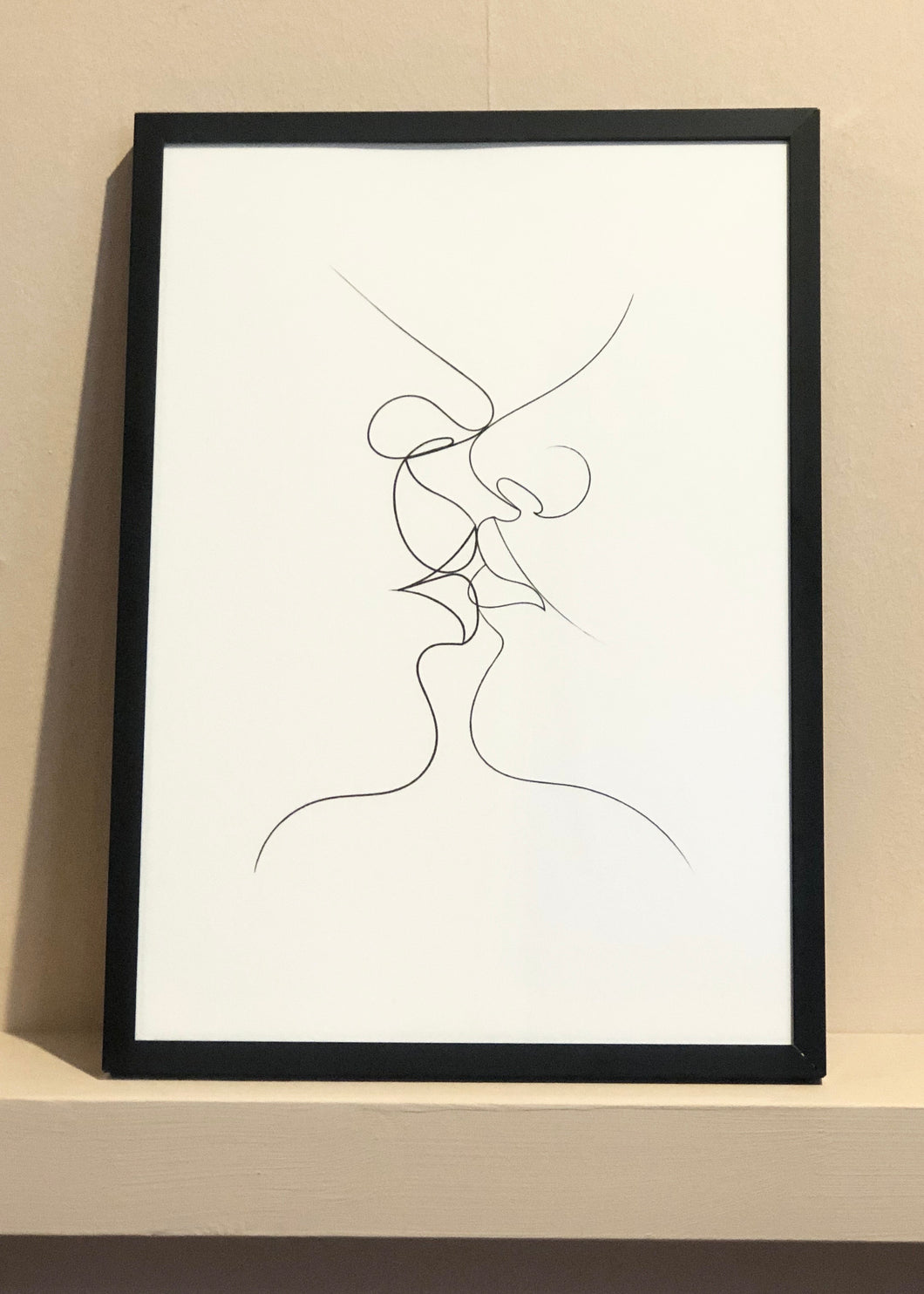 Tender Kiss - Framed Print (Medium)
