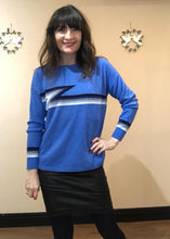 Load image into Gallery viewer, Ziggy Cashmere Mix Sweater - Blue
