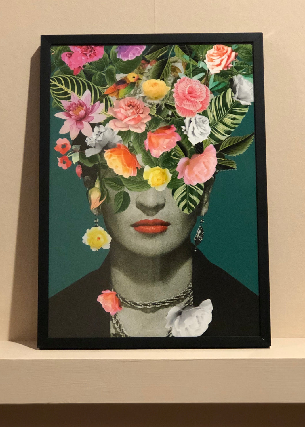 Frida Floral- Black Frame