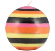 Load image into Gallery viewer, Large Striped Ball Candle