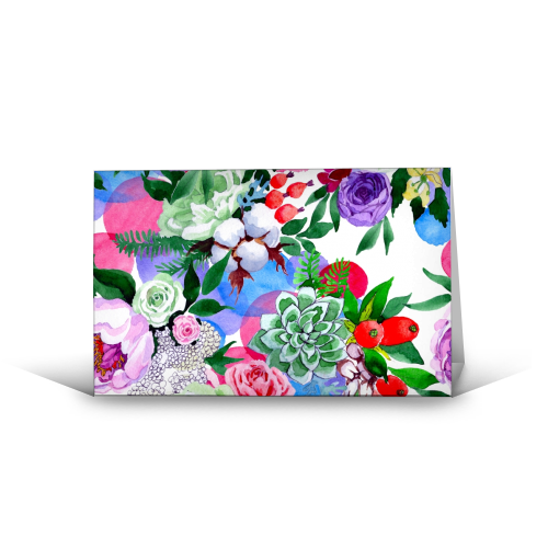 Multi Flowers - Greeting Card