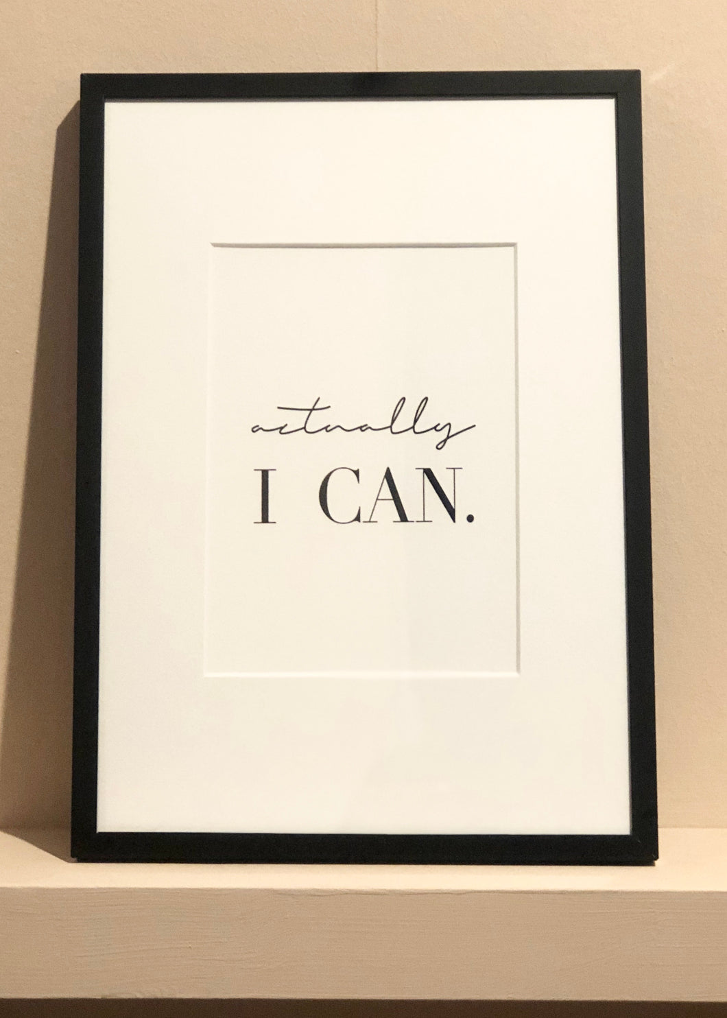 Actually I Can - Framed Print (Small)