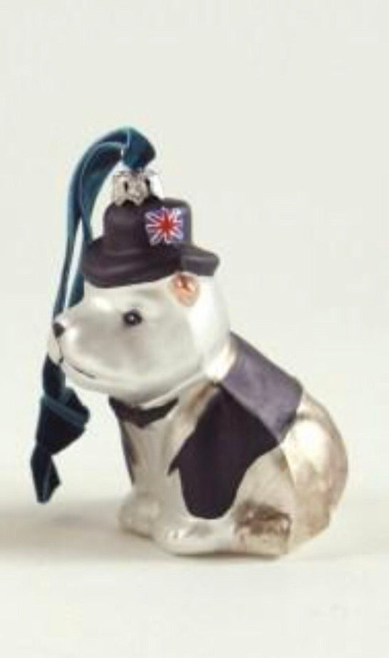 British Bulldog Bauble - available in 2 colours