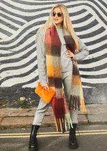 Load image into Gallery viewer, Lennie Check Scarf (Various Colours available)