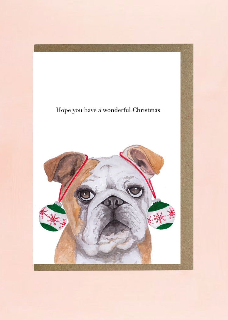 Lil Wabbit Bulldog Christmas Card