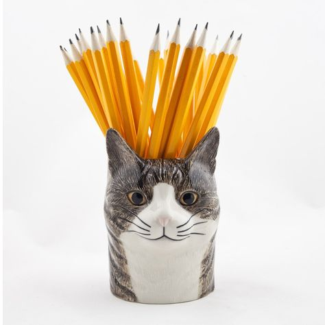 Quail Cat Pencil Pot - Millie