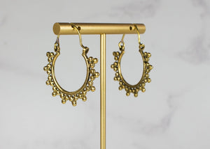 My Doris Gold Boho Hoops with Balls
