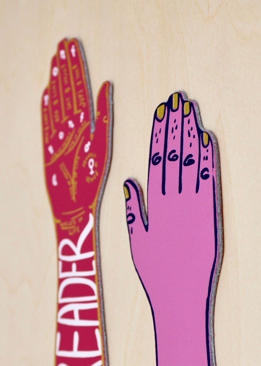 Ark Colour Palm Reader Bookmark in Hot Pink