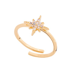 Scream Pretty Starburst Ring - Gold