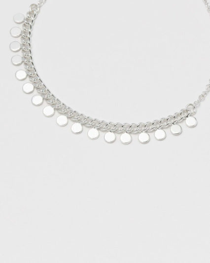 Estella Bartlett Mini Disc Chain Bracelet (Silver Plated)