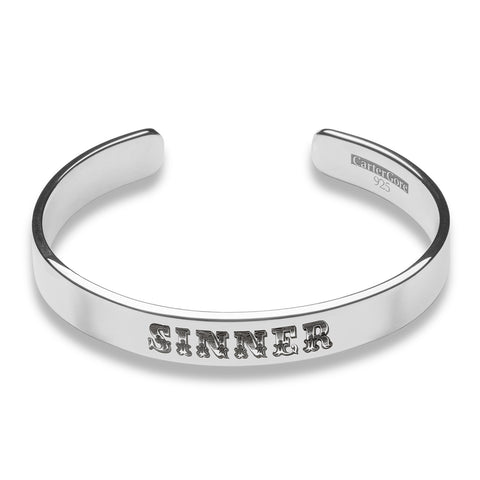 Carter Gore Engraved Silver Bangle
