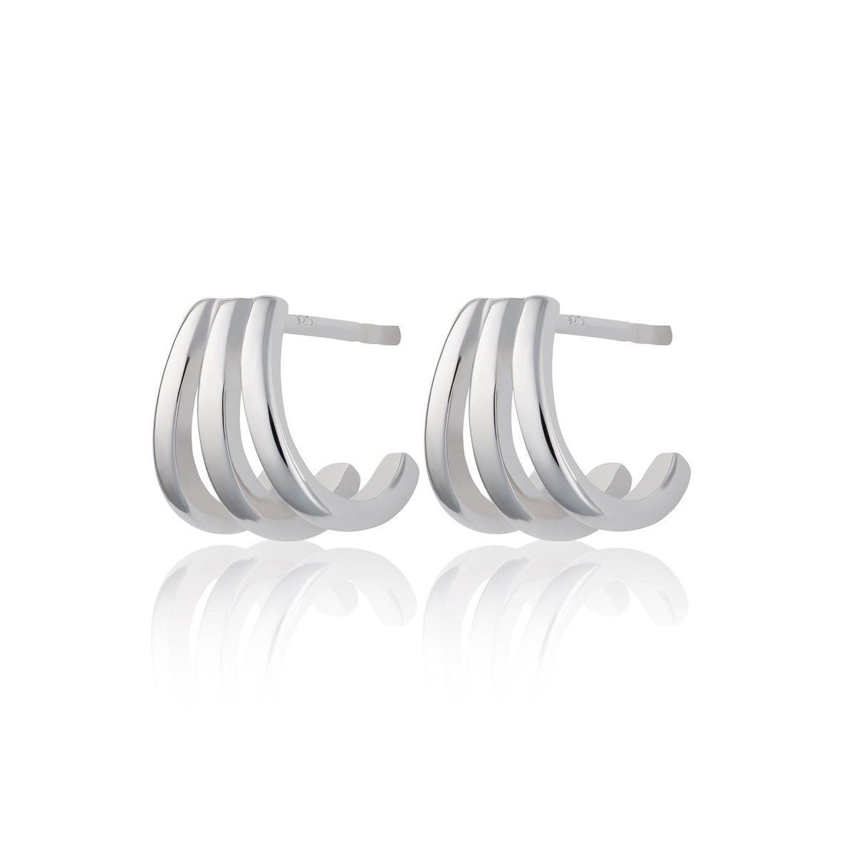 Scream Pretty Triple Split Huggie Stud Earrings