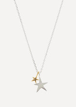 Load image into Gallery viewer, Estella Bartlett Two Tone Double Star Necklace (Silver Plated)