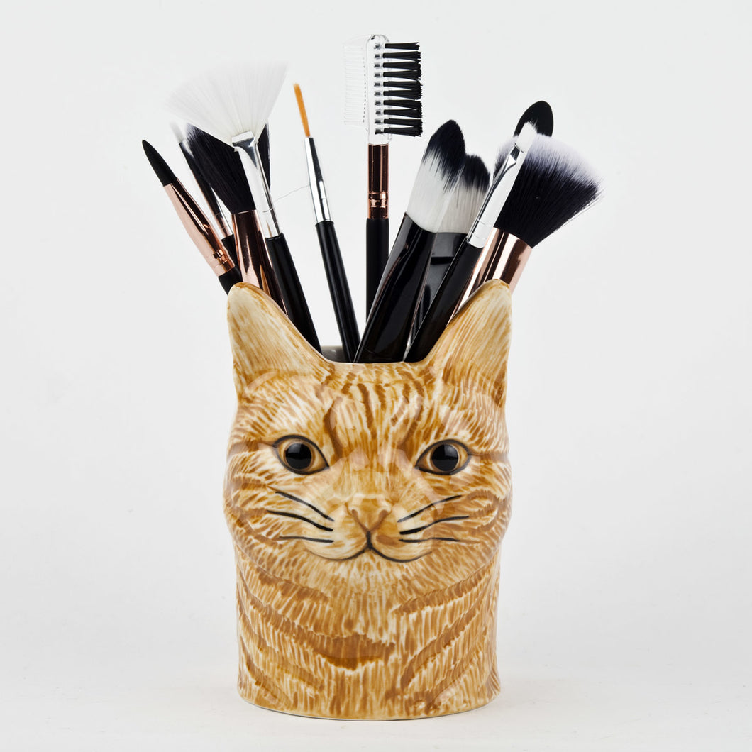 Quail Cat Pencil Pot - Vincent