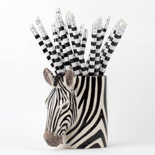 Load image into Gallery viewer, Quail Zebra Pencil Pot