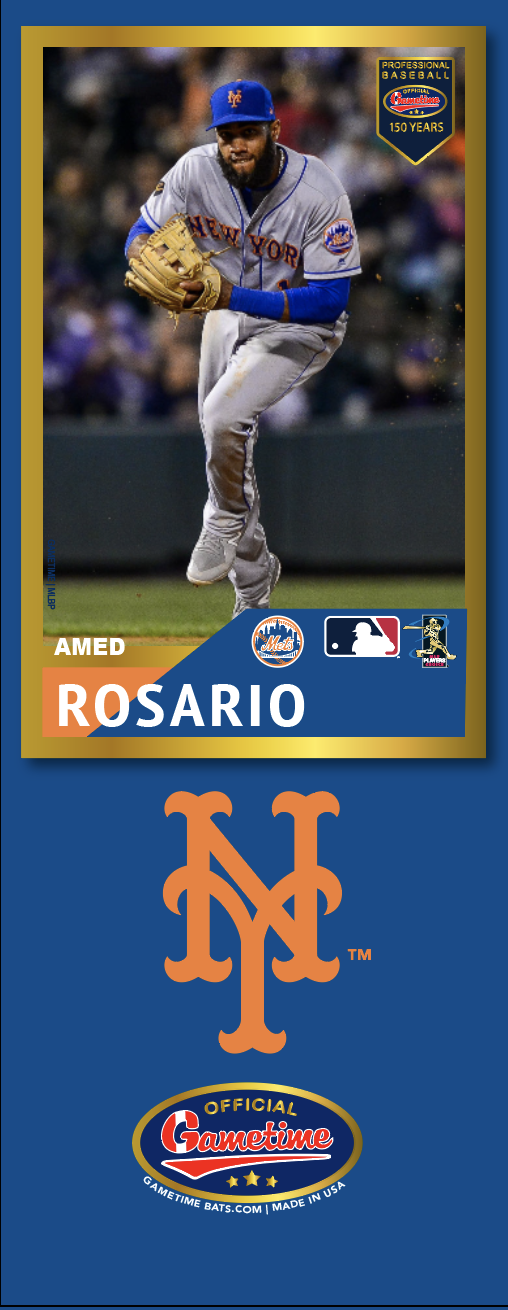 Amed Rosario Photo Bat | MLB Collection