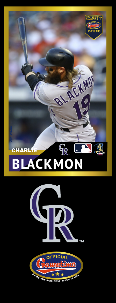 Charlie Blackmon Photo Bat | MLB Collection