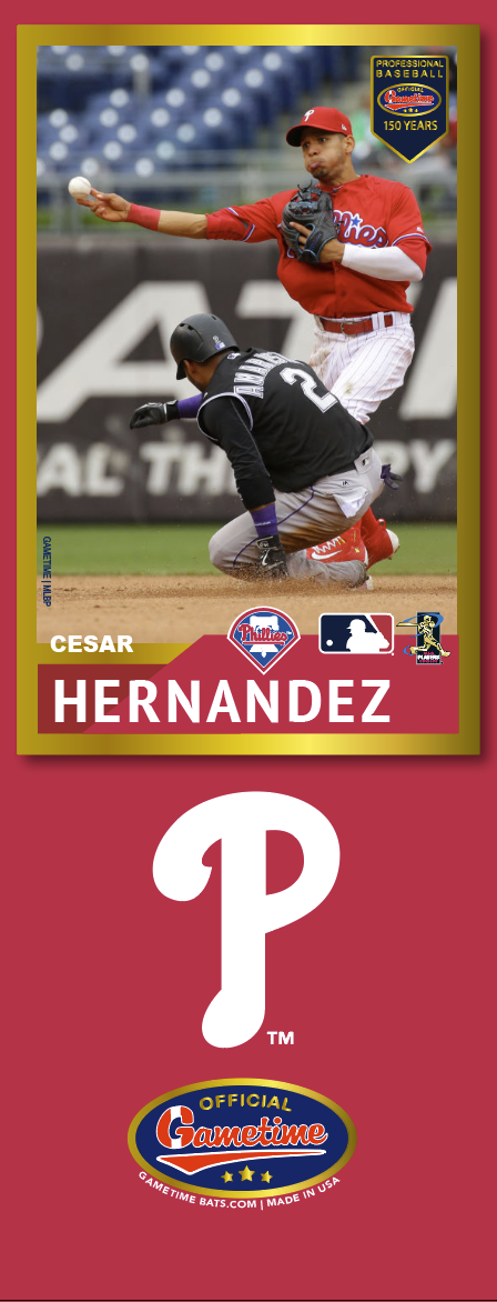 Cesar Hernandez Photo Bat | MLB Collection