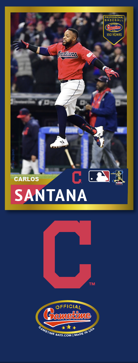 Carlos Santana Photo Bat | MLB Collection
