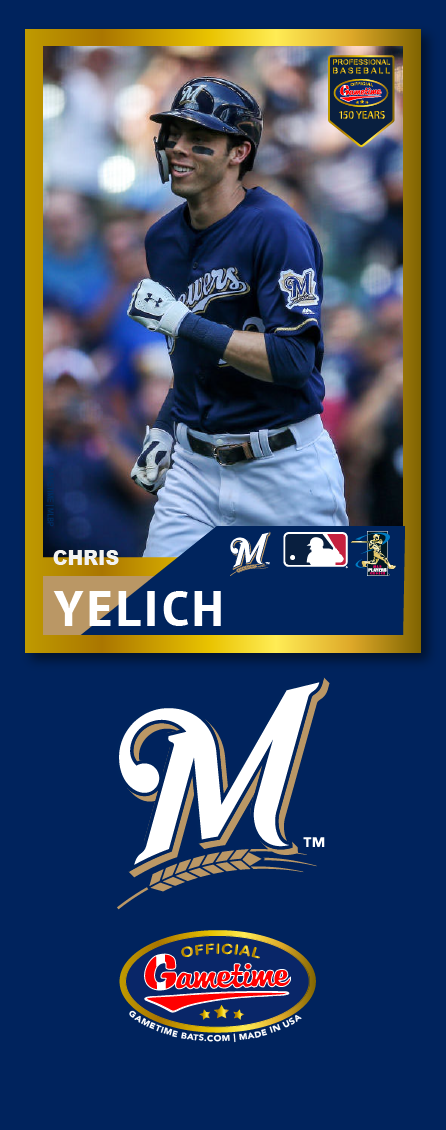 Christian Yelich Photo Bat | MLB Collection