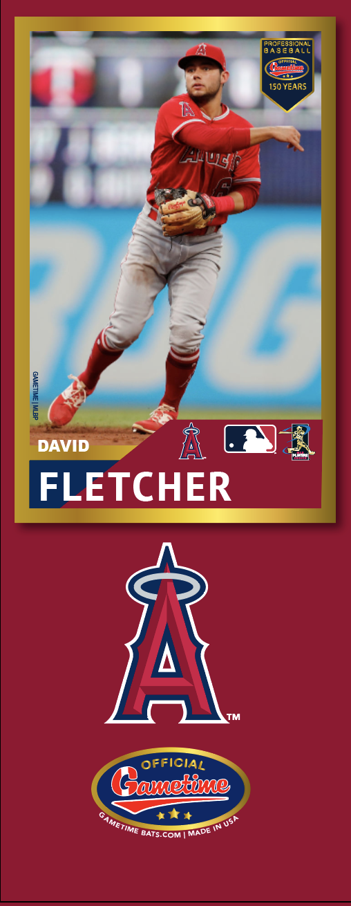 David Fletcher Photo Bat | MLB Collection