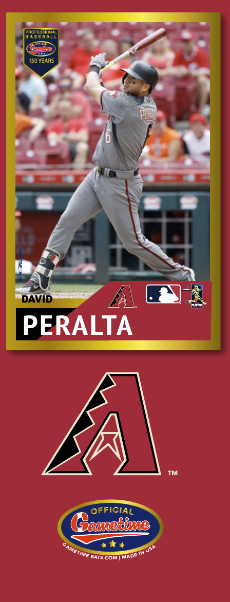 David Peralta Photo Bat | MLB Collection
