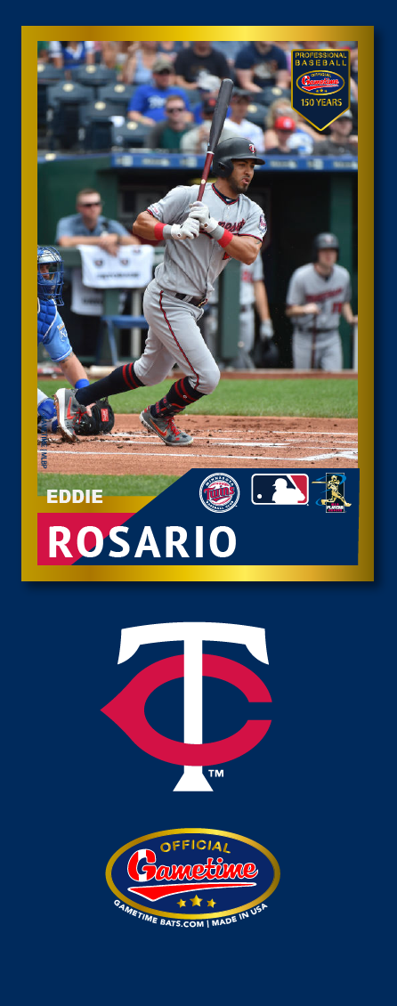 Eddie Rosario Photo Bat | MLB Collection