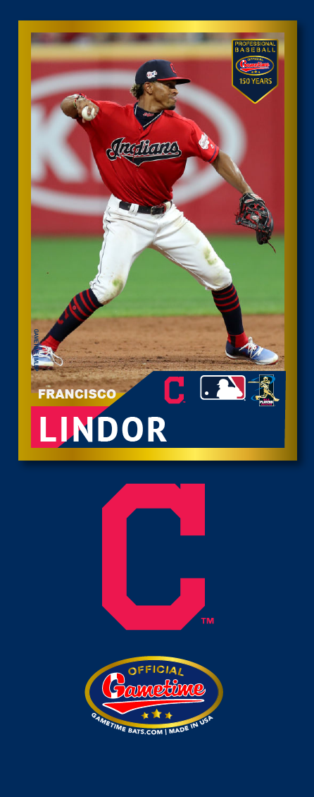 Francisco Lindor Photo Bat | MLB Collection