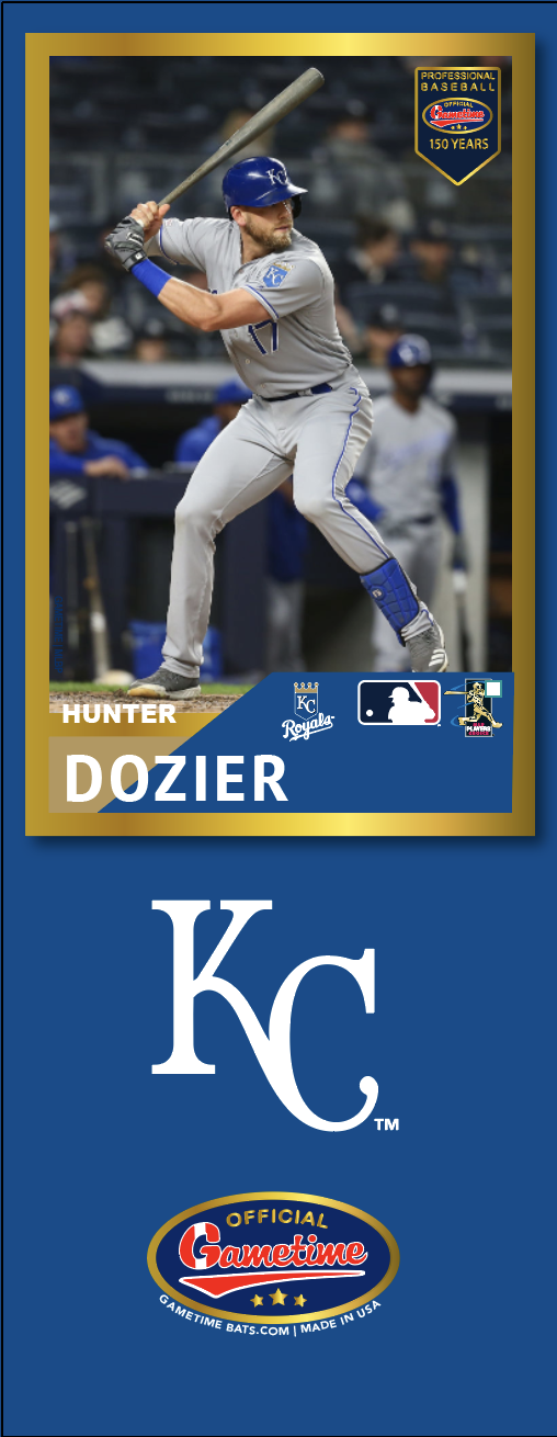 Hunter Dozier Photo Bat | MLB Collection