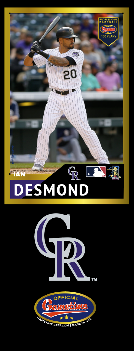 Ian Desmond Photo Bat | MLB Collection