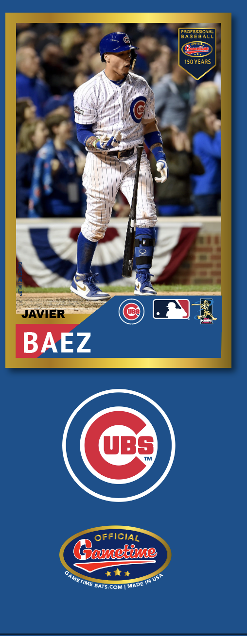 Javier Baez Photo Bat | MLB Collection