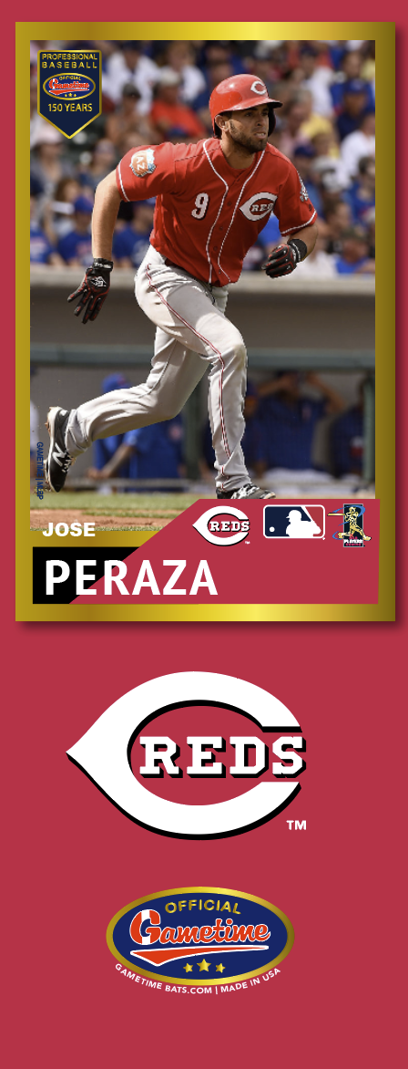 Jose Peraza Photo Bat | MLB Collection