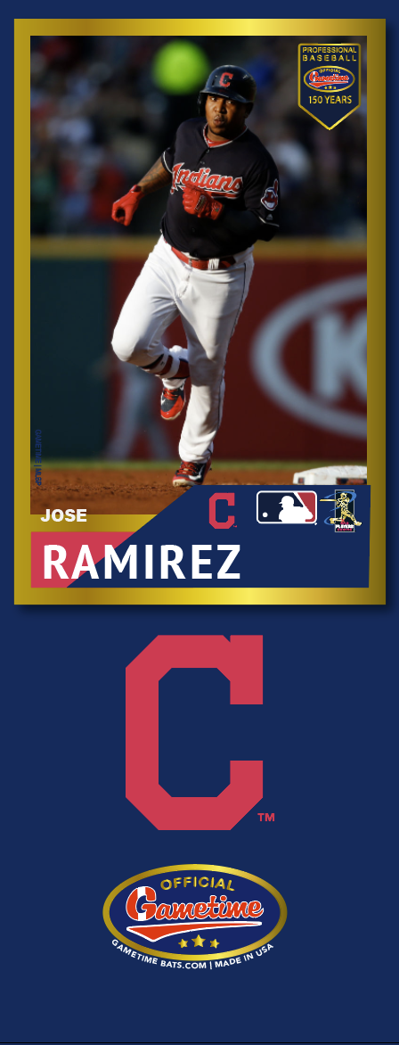 Jose Ramirez Photo Bat | MLB Collection