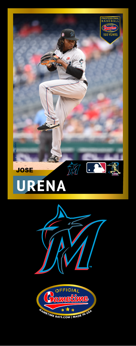 Jose Urena Photo Bat | MLB Collection