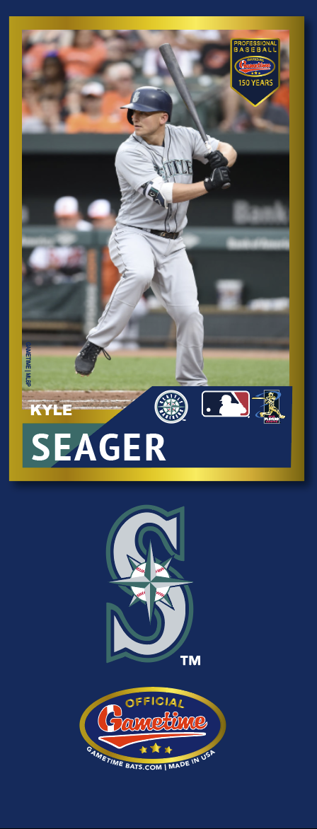 Kyle Seager Photo Bat | MLB Collection