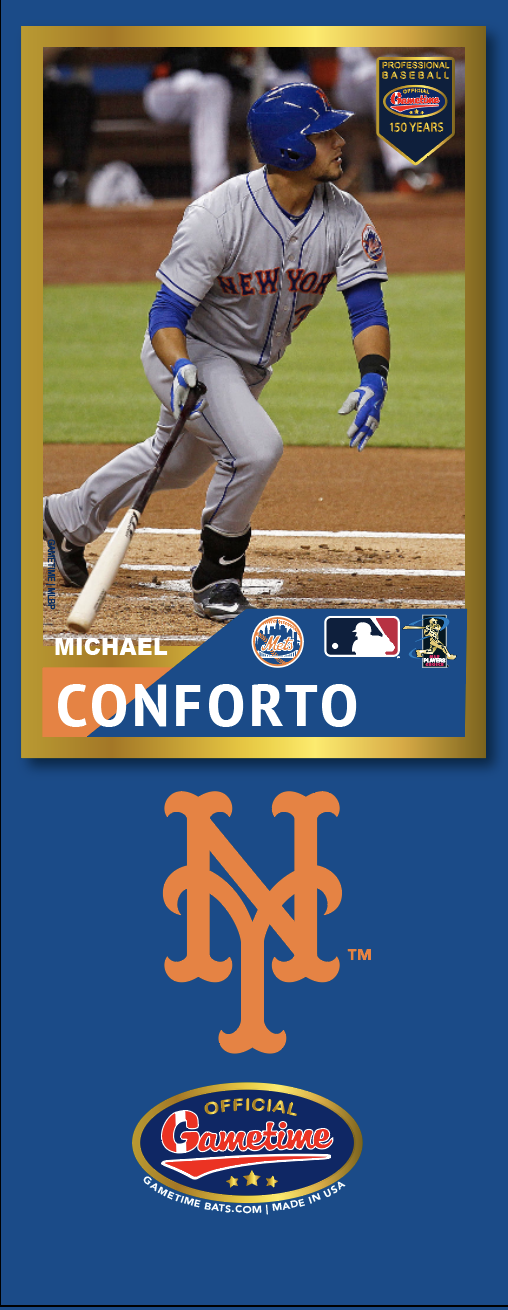 Michael Conforto Photo Bat | MLB Collection