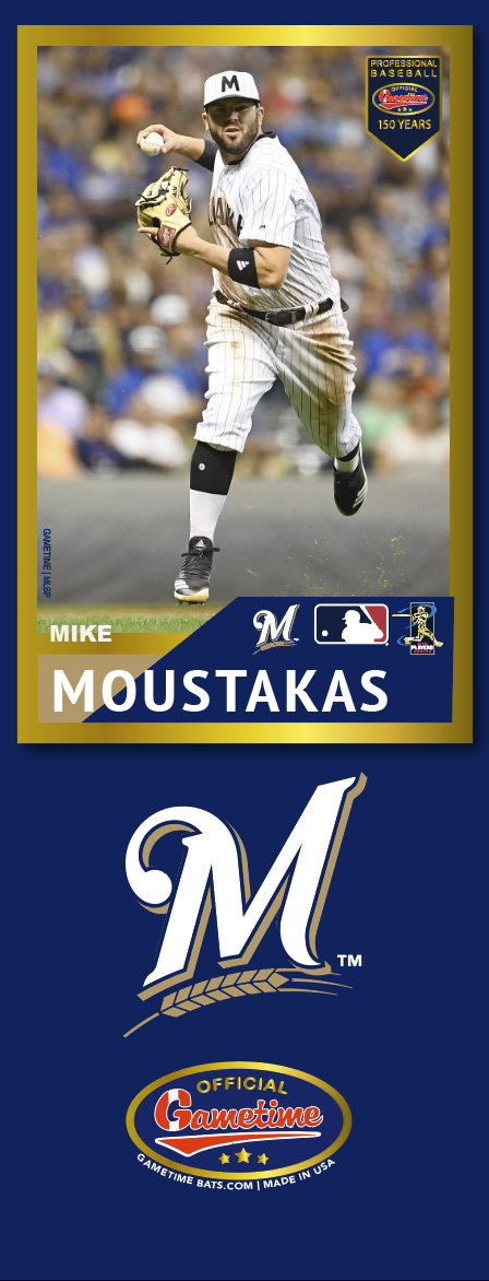 Mike Moustakas Photo Bat | MLB Collection
