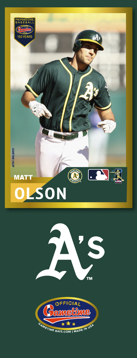 Matt Olson Photo Bat | MLB Collection