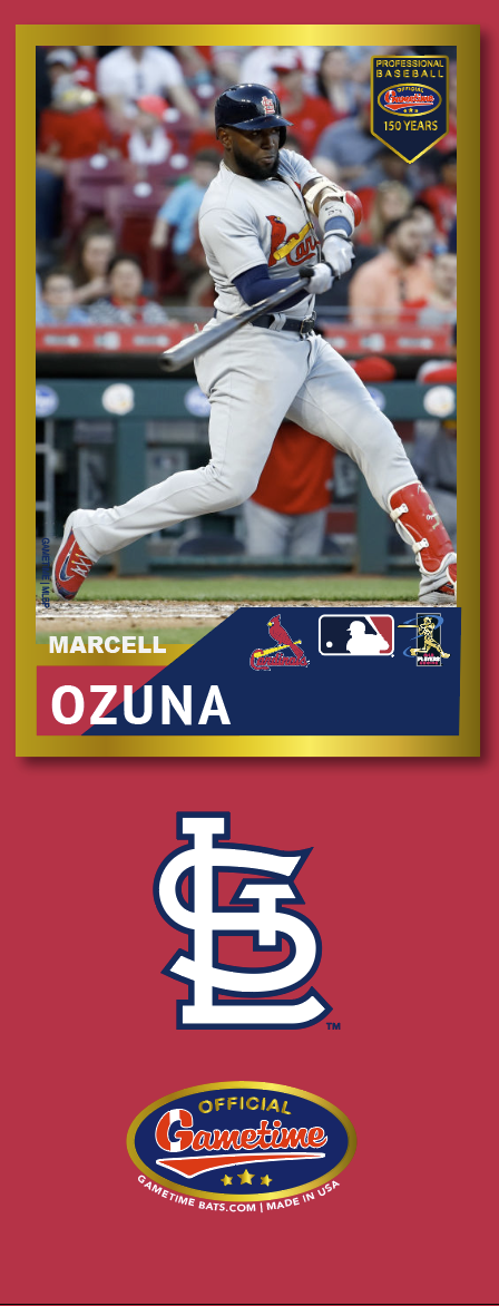 Marcell Ozuna Photo Bat | MLB Collection