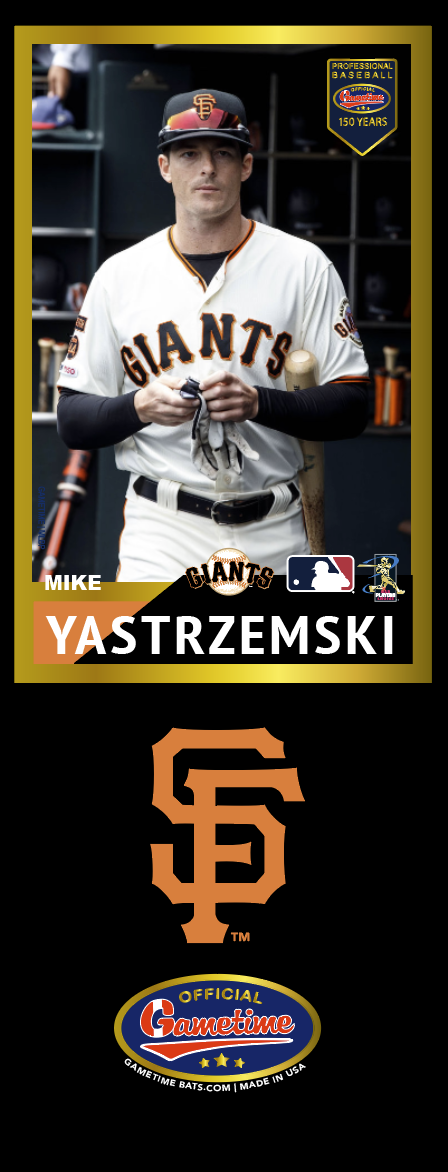 Mike Yastrzemski Photo Bat | MLB Collection