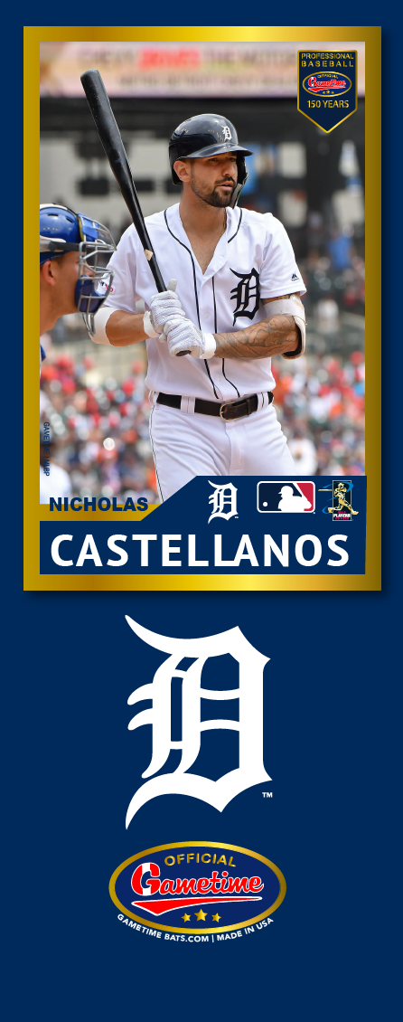 Nicholas Castellanos Photo Bat | MLB Collection